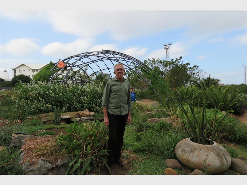 Américo Bonkewitzz At The Butterfly Habitat Garden At Durban Botanic Gardens .