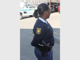 An Alexandra police officer.