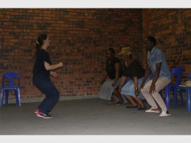 Alex residents exercise at the Stroke Awareness Day Campaign.