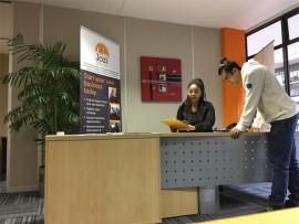 Wesley Warren, the Branch Supervisor of Randburg Jozi SME Hub at the reception area.