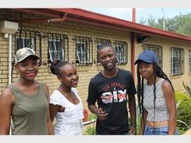 KwaBhekilanga Secondary School's matric high achievers are Khensani Nuleli, Nyeleti Ngobeni, Makgale Tlaka and Hloniphane Mabasa.