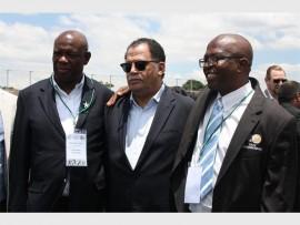Football heavyweights, Phil Mogodi, chairperson of the Soweto Football Association; Dr Danny Jordaan, president of the South African Football Association; and Alex football chairperson, Maisha Molepo.