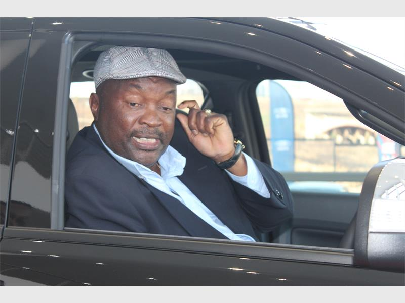 Jomo Sono gets to test his brand new 4x4 vehicle as the new Ford brand  ambassador. Photo  Sipho Siso 61a8e2b61