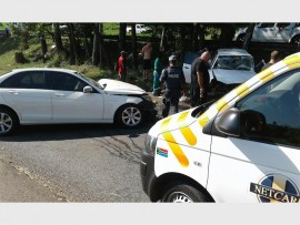 SAPS and emergency services were called to a collision on Forrest Road in Pinetown on Sunday afternoon.