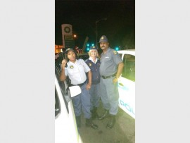Bellair SAPS' station commander Lt-Col Bongi Mkhize, Capt Jennifer Goosen and W/O Prakash Kumar. PHOTO: Submitted