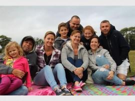 Front: Taytum, Mark and Cindy Easson, Lindy Graham, Liz Da Silva. Back: Jordyn and Peter Graham, Kayleigh Da Silva and Jay Cornelesen. PHOTO: Thobele Nzama