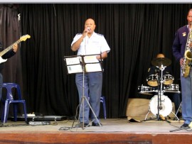 The SAPS band perform at West Park Special School. PHOTO: Thobele Nzama