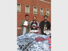 Young fashion designers who showcased new designs at the fashion show, Phumulani Xhakaza, Wandile Mshengu and Simiso Ngwenya.