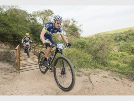 Andrew Hill charges to victory during his debut appearance at the Sappi Scottburgh MTB Race. PHOTO: Anthony Grote/Gameplan Media