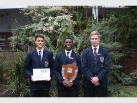 WBHS pupils, Nicholas Herd, Sasa Dlamini and Jonathan Ross won the senior trophy for debating.