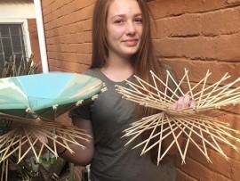 Dani Jansen Van Rensburg with her design.
