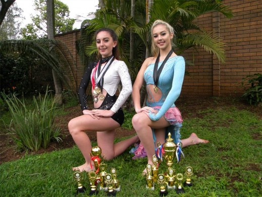 Bianca Almanza and Madison Layla Bromfield.