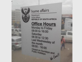 The operating hours state that the offices will be open from 8am to 4pm on weekdays.