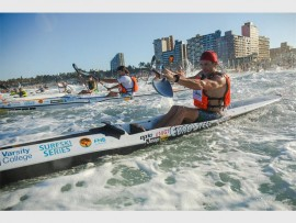 Hank McGregor, together with the rest of Durban's surfski enthusiasts, will prepare during the festive season for the 2017 FNB Surfski Series on Friday, 6 January. PHOTO: Anthony Grote/Gameplan Media