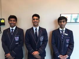 Thayin Govender, Jeremy Gounden and Sriram Maharaj were in the Top 10 KZN matriculants.