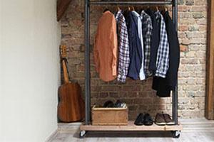 57047725 - modern wooden rack in the loft