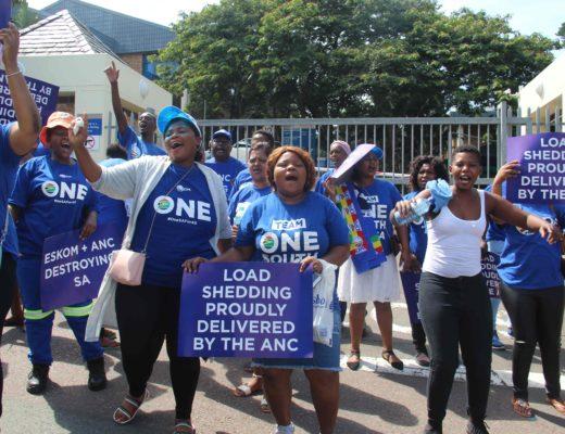 DA protest outside Eskom, Westville   Highway Mail