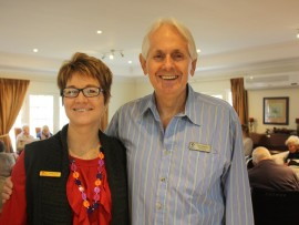 Kathy Hughes, manager of Somerset Lodge Care Centre, with Ian Vowels from Headway Natal.