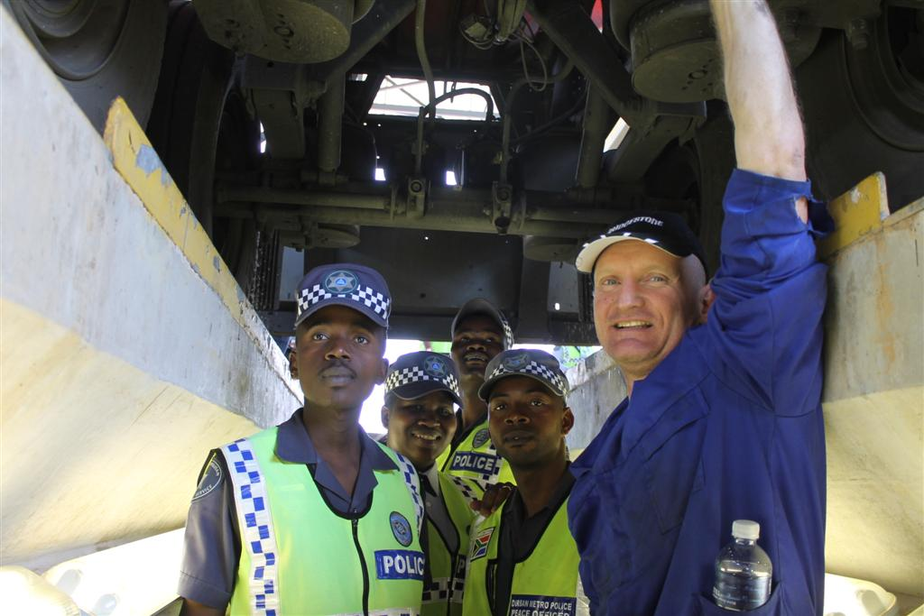 Craig Proctor-Parker, a Durban-based accident specialist, empowered Metro officials with information that could help them identify unroadworthy trucks.