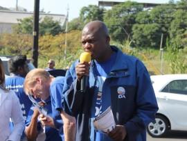 DA provincial leader, Zwakele Mncango visited at the KwaMathambo Informal Settlement on Thursday.
