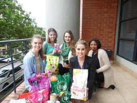 Bianca Hauser with the team from Execugroup Durban who made a donation.