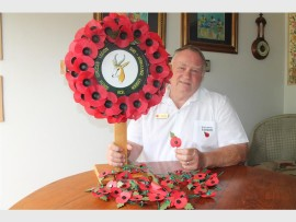 Rick Andries, chairman of SA Legion, Durban branch says the organisation is grateful to all who helped in the collection of R90 000 during their annual Poppy Day collection.