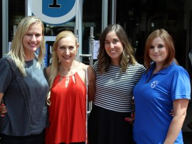 The Art Givers' Exhibition at La Lucia Mall recently raised R32 000 for the Durban & Coast SPCA. Cindene Sheasby (marketing manager La Lucia Mall), Christina Godfrey (Art Givers') with Lindsey Concer and Chantall Giliomee celebrate the good news.