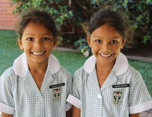 Henna and Hikara Kisten of Atholton Primary School.