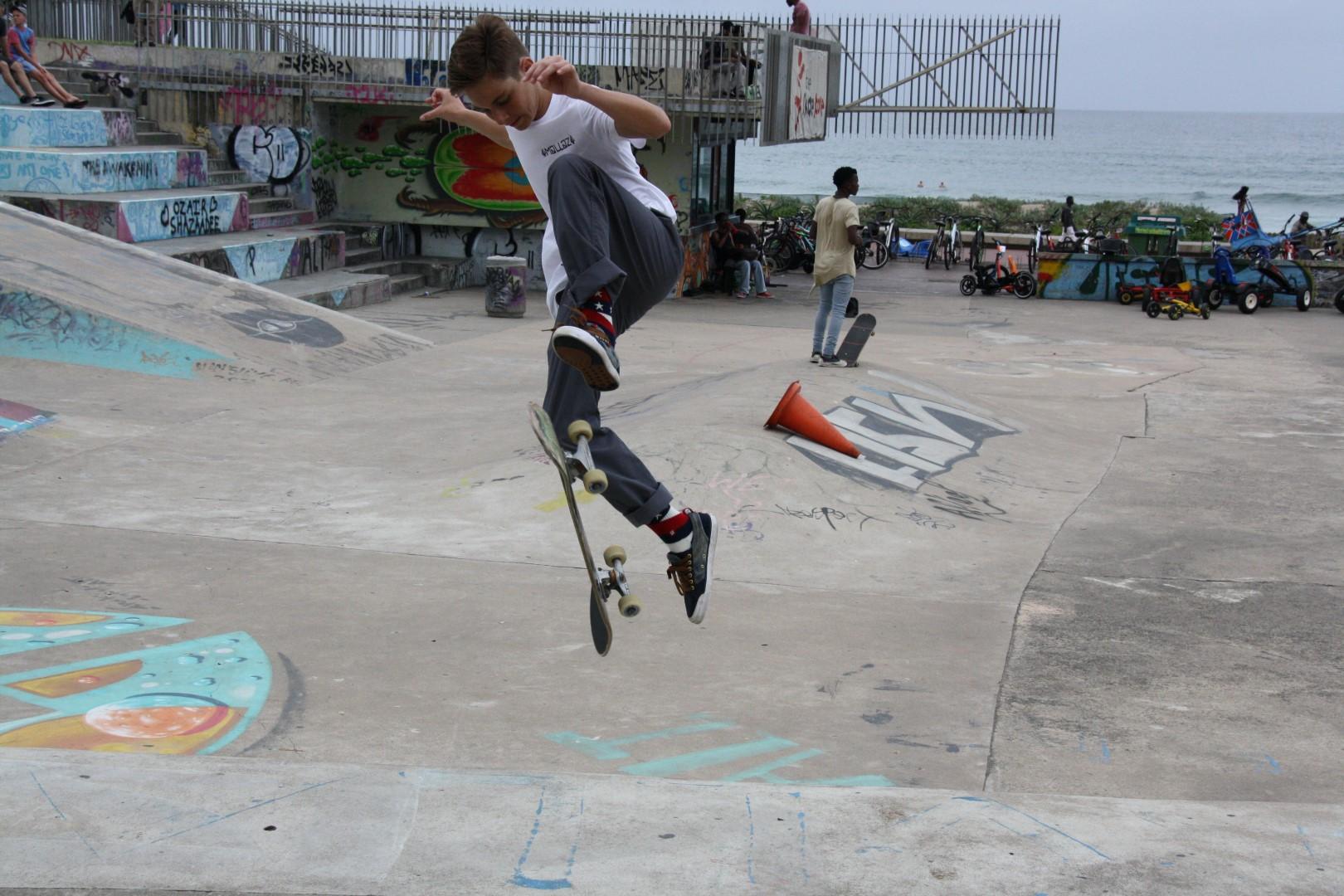 Jamie de Villiers in action.