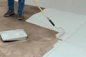 Painting a concrete floor