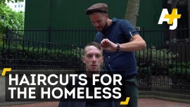 Free haircuts for the homeless
