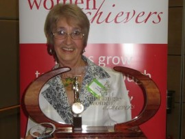 Helene Griffiths with her awards.