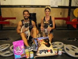 """Scott and Lill Kimble with Luna, Frank and Jackson urge residents to get involved in the 'Dawn of the Dead' a """"deadlift only"""" competition on Saturday, 18 February in aid of Phoenix Animal Care & Treatment (PACT)."""