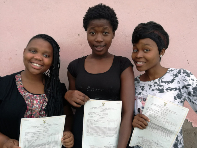 Nobuhle Ndlov, Sindiswa Shange and Mbali Mpanza have been offered bursaries to pursue their tertiary education through theDomino Foundation.