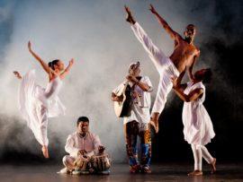 The Flatfoot Dance Company in full flight.