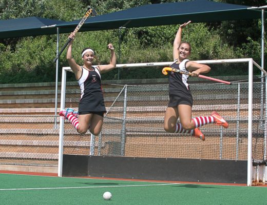 Looking forward to the upcoming SPAR KZN School Girls' Hockey Challenge are Crawford College La Lucia's captain, Tanika 'TK' Schram and vice-captain Lisa Lister-James. CCLL will be hosting seven teams on their turf for the Durban North Regional on Saturday 25 March. PHOTO: Sophie Thompson