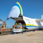 An Antonov An-124 cargo aircraft has the carrying capacity of 120 to 150 tonnes - the biggest series heavy lifter in the world.