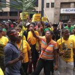 ANCYL members clashed with police and members of the DA. PHOTO: Berea Mail