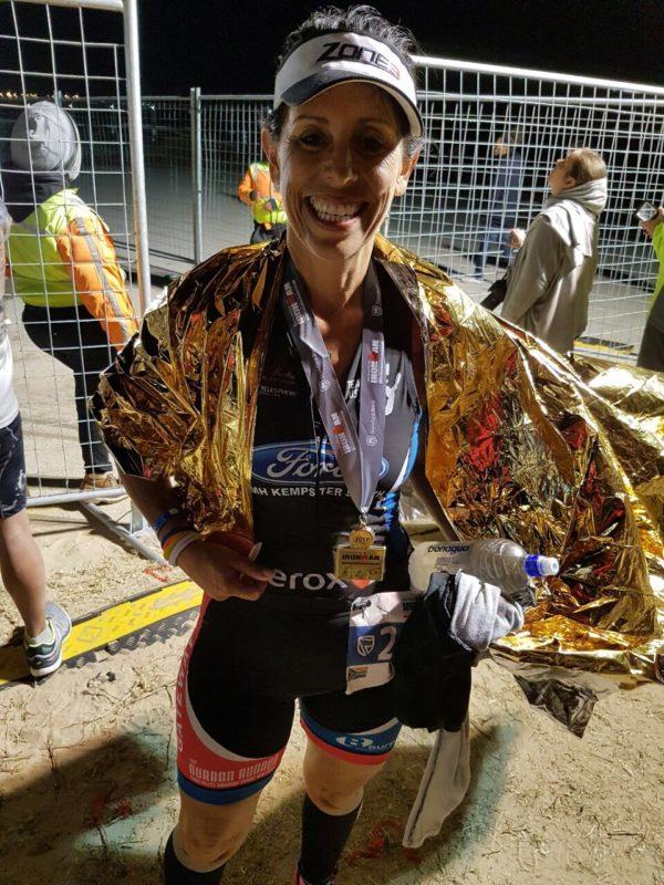 Joani Mitchell at the finish line.