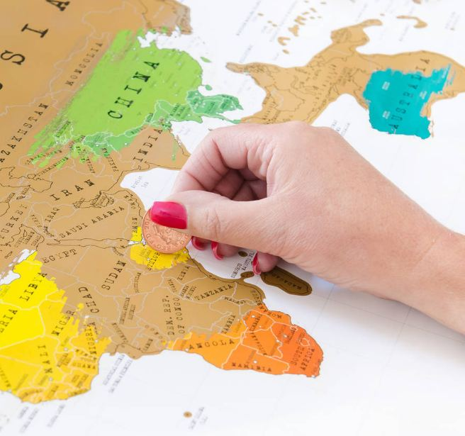 Watch scratch off travel map a hit with the internet northglen news watch scratch off travel map a hit with the internet gumiabroncs Choice Image