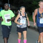 Tilda Tearle (middle) is lining up for her 30th Comrades Marathon. She is encouraged by DHS Old boys runner, Stephan Bruwer.