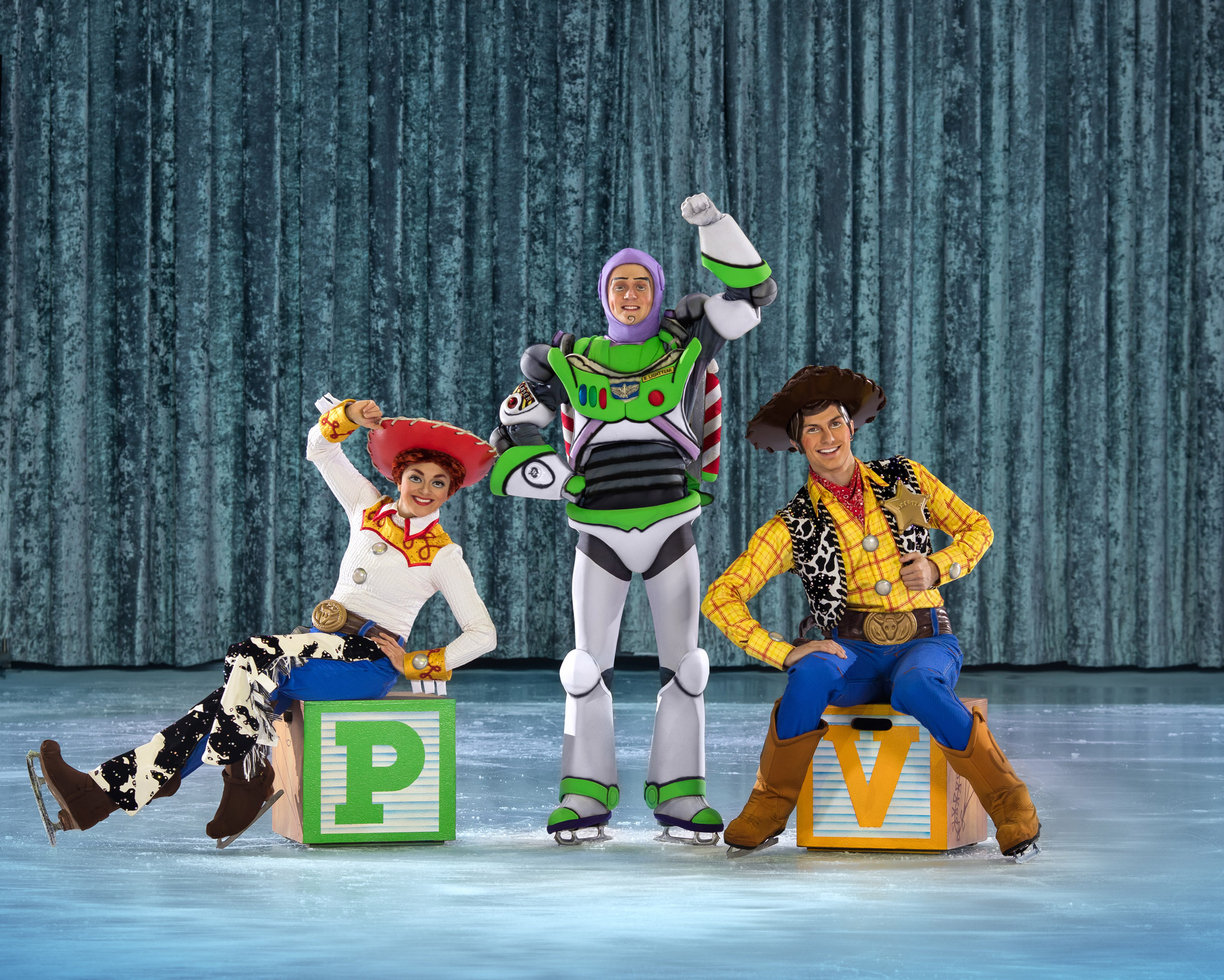 Toy Story characters on The Wonderful World of Disney On Ice!