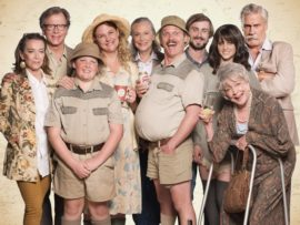 The cast of Va Der Merwe. The film hits the big screen later next month.