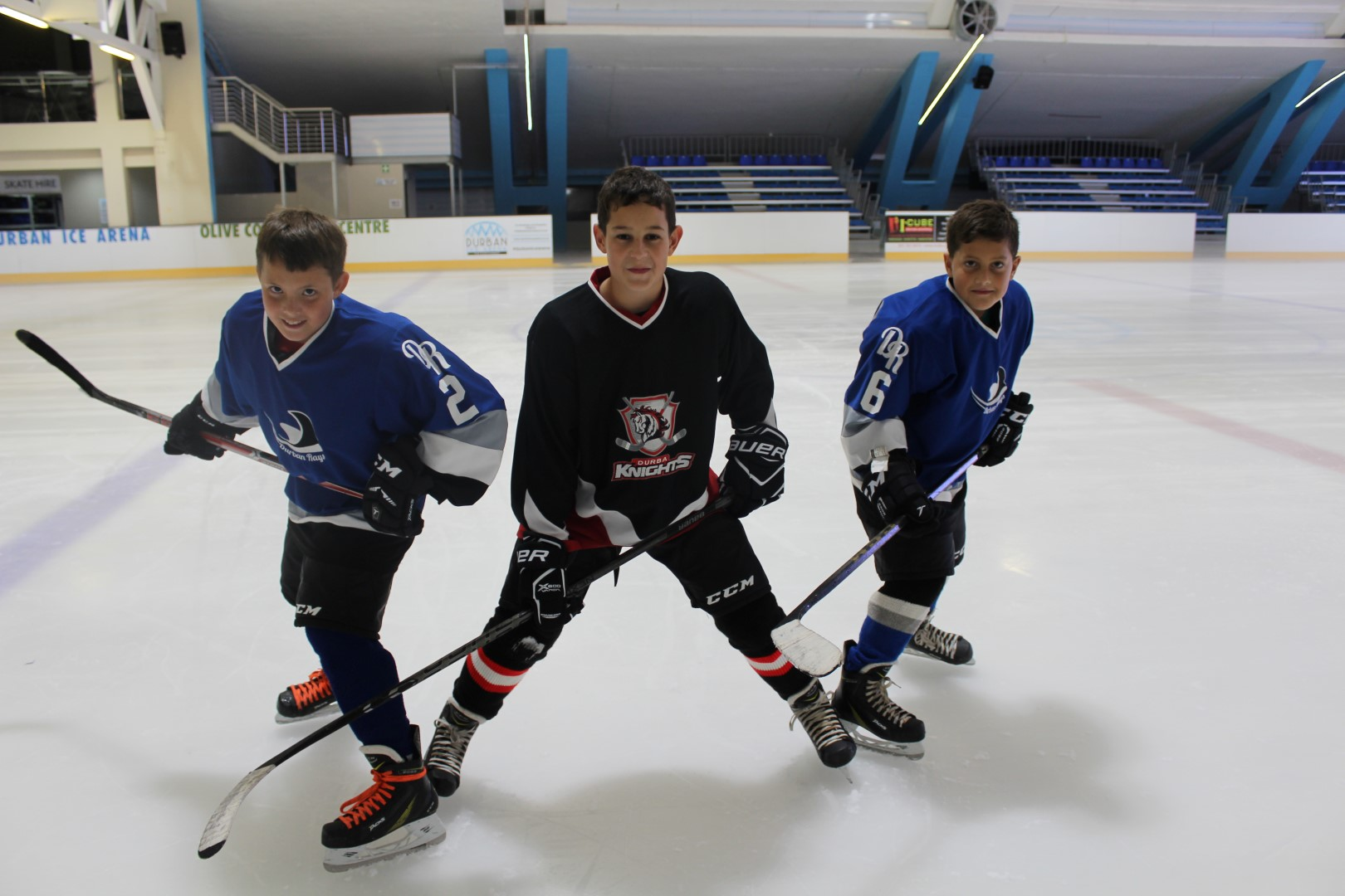 Bryce Woolf, Seth Gwynn and Alex Wesselink will represent the KwaZulu Natal U12 ice hockey team at the inter-provincial tournament in July.