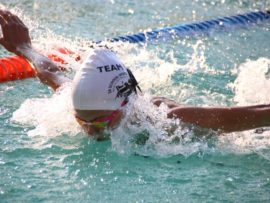 Emma Christianson (12), recently competed for KZN in three separate disciplines – triathlon, indoor netball and swimming. She medalled in all of them.