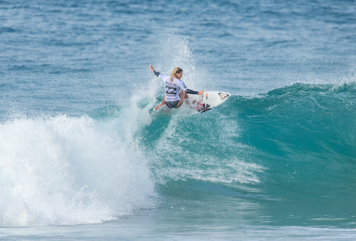 uMhlanga's Kayla Nogueira won the U16 title but she also qualified for the South African team for the International Surfing Association (ISA) World Junior Surfing Championship in Japan. PHOTO: Graham Topfoto