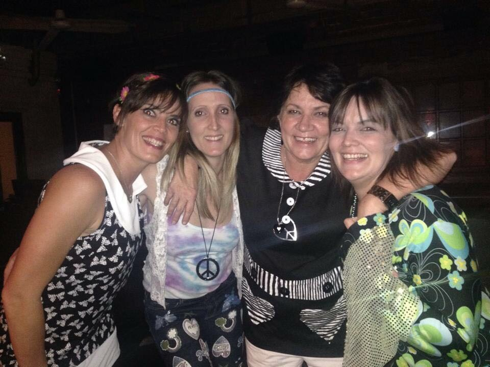 Tami Alves, Lindy-Leigh Swales with Kirsty and Brenda Scriven at a party last year.