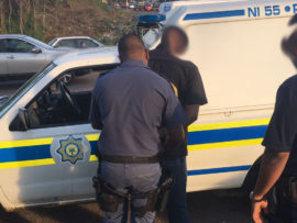 The man was arrested on Rinaldo Road. PHOTO: Marshall Security