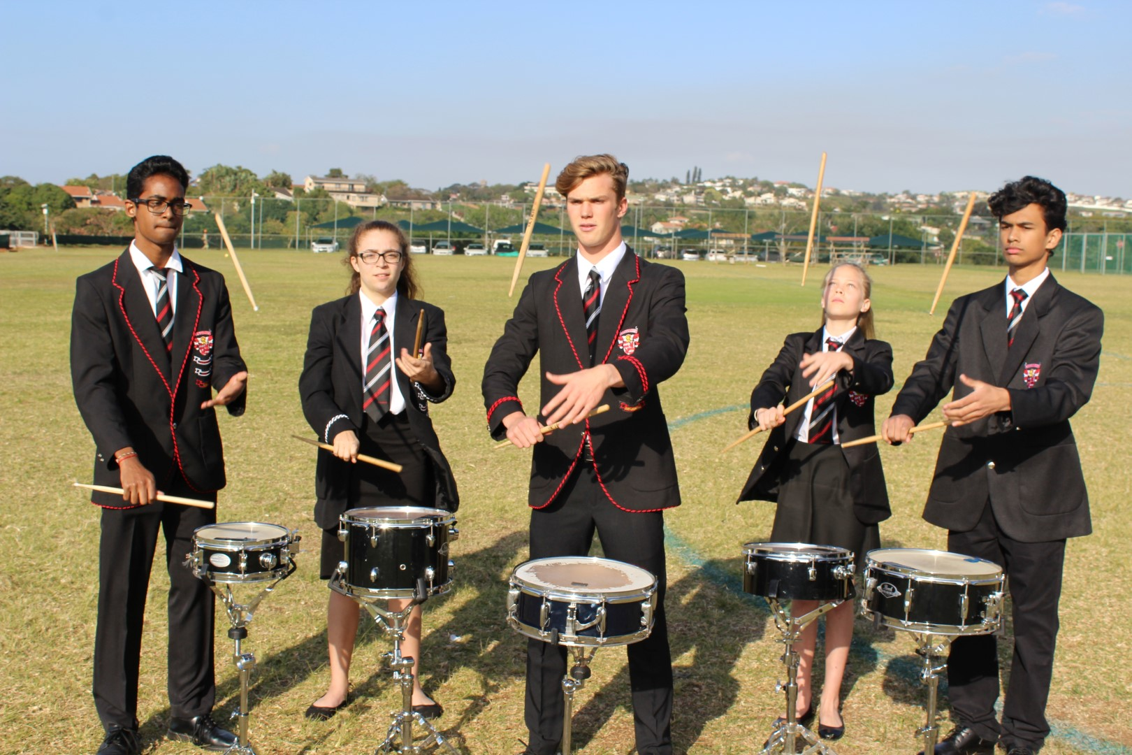 Crawford College La Lucia Drumline will be performing at this years Hilton Arts Festival. Prinalen Naidu, Zoe Meneses, Shane Maguire, Marta Todd and Shaunik Naidu are five of the 14 learners (from the prep school and the college) who will be at performing at the festival.
