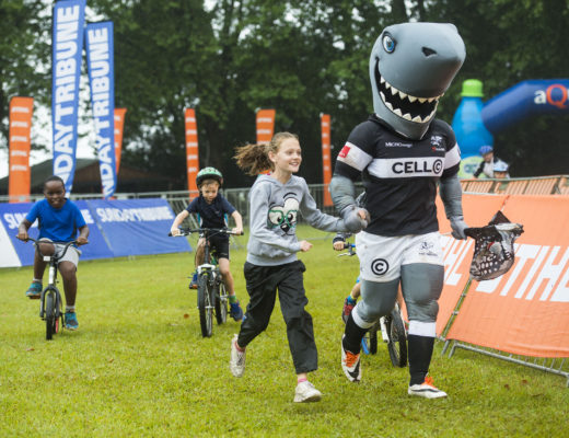 Sharkie and the full Cell C Sharks squad will join mountain bikers and trail runners on Sunday, 3 December. PHOTO: Anthony Grote
